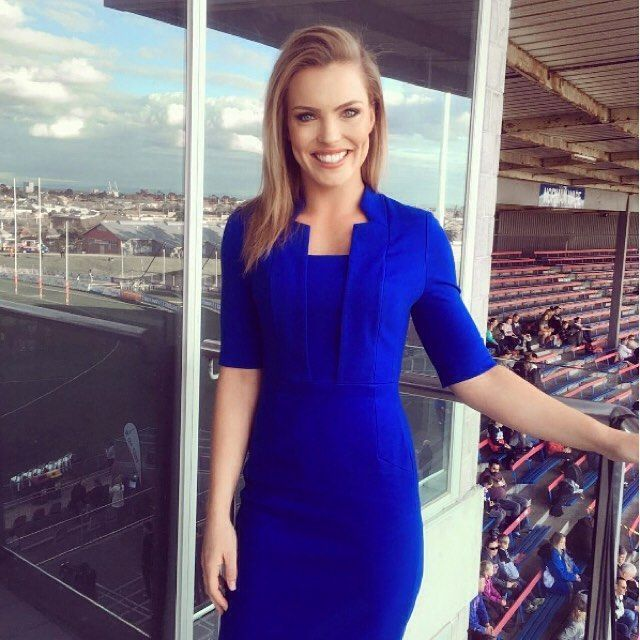 The stunning @abbeycholmes wearing the Cobalt Ponti Dress #antheacrawford…