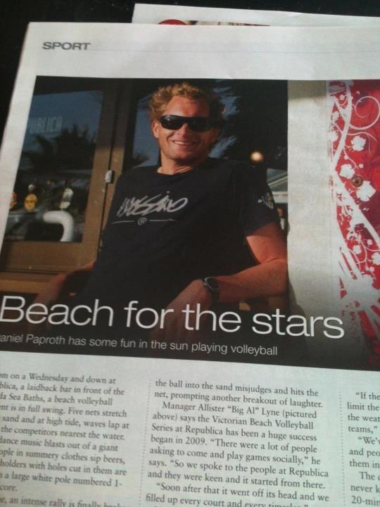 Beach Play coach Big Al...doing his thing!