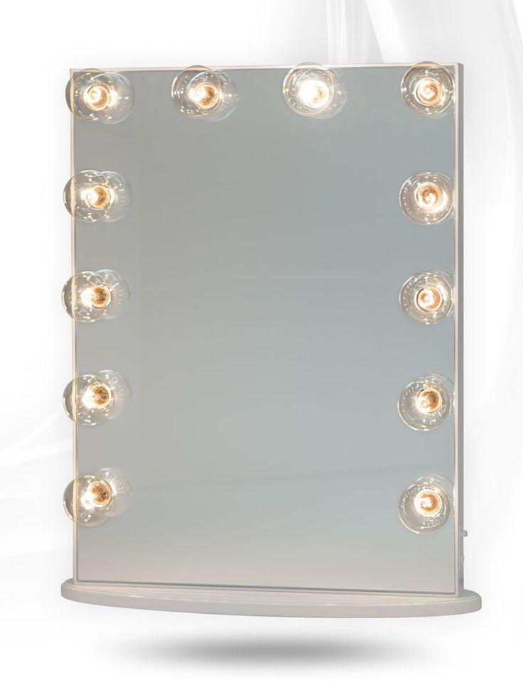 Lighted Vanity Mirror Impressions : Impressions Vanity Hollywood Glow XL Lighted Vanity Mirror in White Lit Vanity Mirror ...