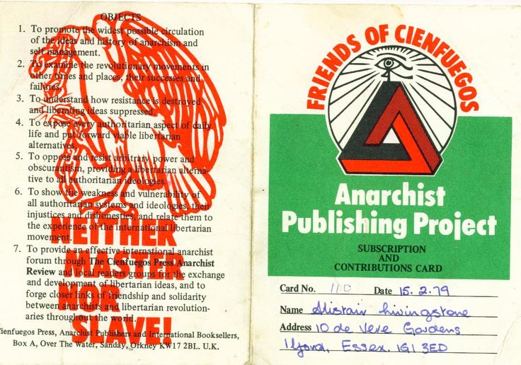 """Cienfuegos Press was an anarchist publishing house. Founded by Stuart Christie and Albert Meltzer, it operated from 1974 to 1982. It published a broad range of material.  It was replaced by another publishing effort called Refract Publications and later ChristieBooks. In 2008 ChristieBooks launched the """"Anarchist Film Channel"""", which hosts over 350 films and documentary about Anarchism."""