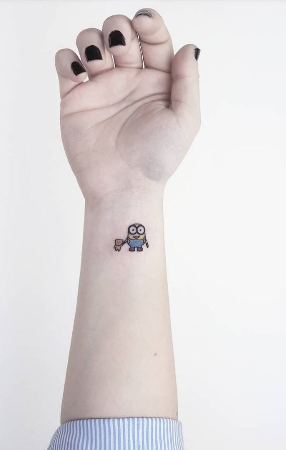 70 Small And Adorable Tattoos By Ahmet Cambaz From Istanbul Minion Tattoo Cool Small Tattoos Tattoos