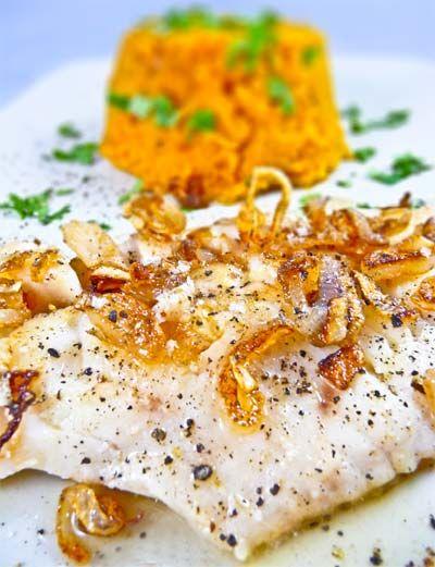 Filet de dorade et purée de carotte épicée