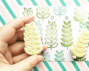 Kirschblüte Briefmarken. Blume-Hand geschnitzte von talktothesun