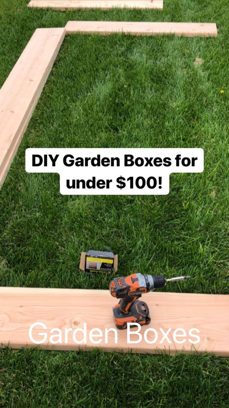 Simple Step by Step Garden Box Tutorial video garden DIY Garden Boxes Small Backyard Design, Small Backyard Landscaping, Backyard Ideas, Porch Ideas, Patio Ideas, Diy Landscaping Ideas, Front House Landscaping, Landscaping Design, Modern Landscaping