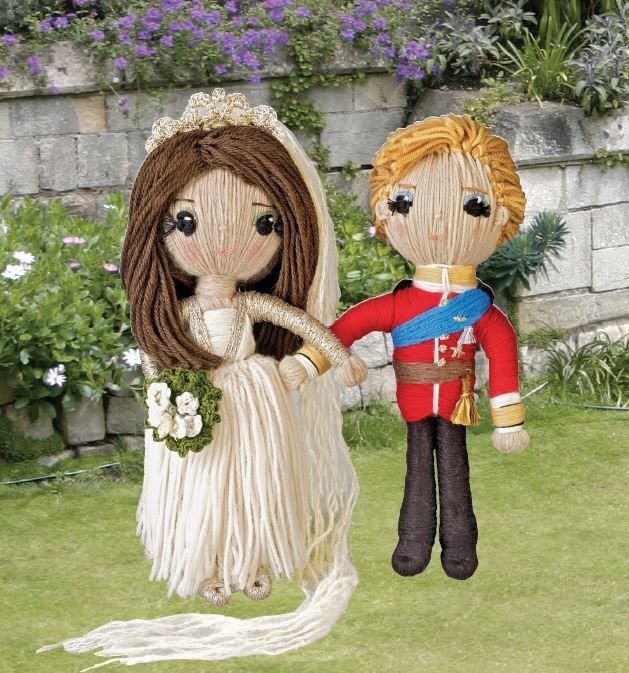 Prince William and Kate from YARN WHIRLED: THE ROYAL FAMILY BOOK