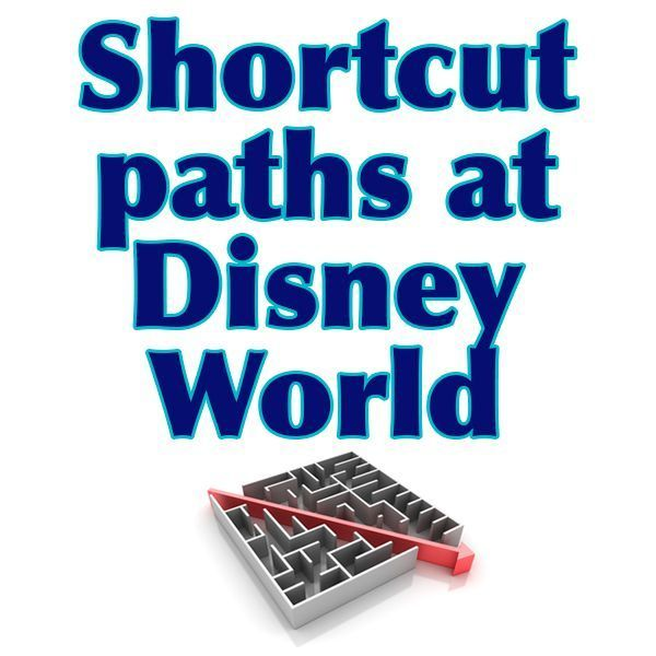 """Do you know about these somewhat """"hidden"""" paths? They're often less crowded and can save you a little time. disney world #traveltips #disney"""