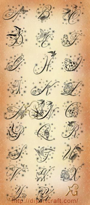 stunning font #tattoo sparks and animals