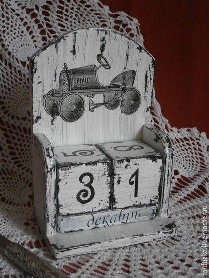 """Календари ручной работы. Ярмарка Мастеров - ручная работа вечный календарь """"Авто-Легенда"""". Handmade."""
