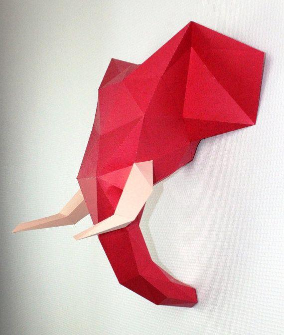 SculPaper fait honneur a un animal la savane, L'éléphant.  Vendu en kit DIY, cette sculpture nécessite environ 3-4 heures pour réussir le montage.  Le niveau de difficulté est moyen,  Matériel nécessaire : de la colle en gel et vos mains !  Idéal pour la décoration de votre maison, bureau, chambre d'enfants, etc.  Disponible en 15 couleurs de votre choix  Possibilité de choisir 2 couleurs ; 1 pour la tête, 1 pour les défenses.  Taille :  Hauteur : 49 cm  Largeur : 50 cm  Profondeur : 30 cm…