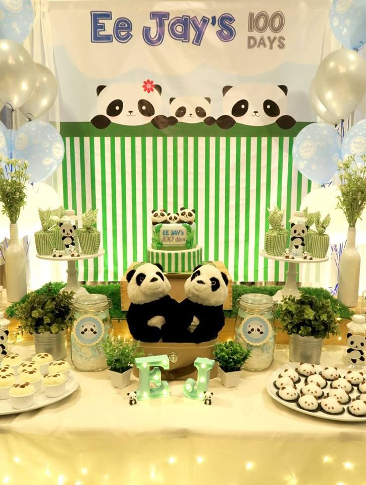 panda-themed-baby-celebration-snack-table #babyshowerideas11u