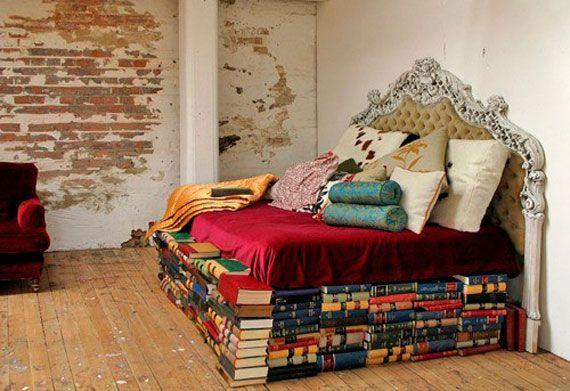 en la cama, felices sueños lectores ;)