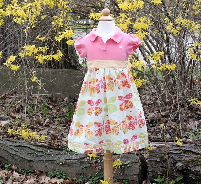t shirt dressDresses Tutorials, Butterflies Dresses, Shirts Dresses, Semi Handmade Spring, Little Girls Dresses, Polo Shirts, T Shirts, Wardrobes Series, Spring Wardrobes