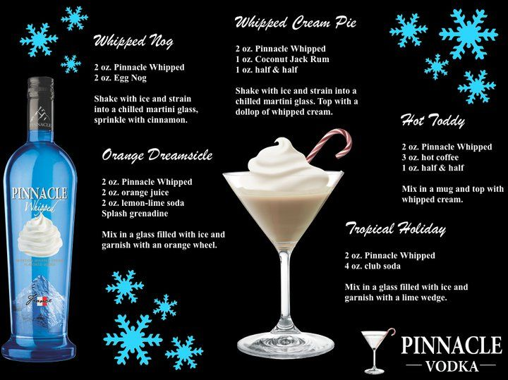 Looks like you've been naughty - Guess you'll have to get whipped this Christmas. Pinnacle Whipped vodka that is.