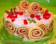 """Торт """"Весёлые улитки"""" - ХЛЕБОПЕЧКА.РУ - рецепты, отзывы, инструкции"""