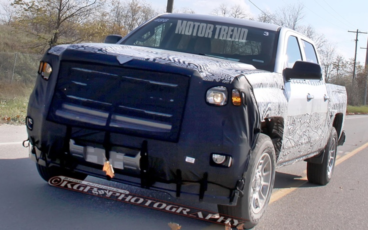 Spied! 2014 Chevrolet Silverado and 2014 GMC Sierra with Less Camo - WOT on Motor Trend Click on the photo for more info and spy shots!