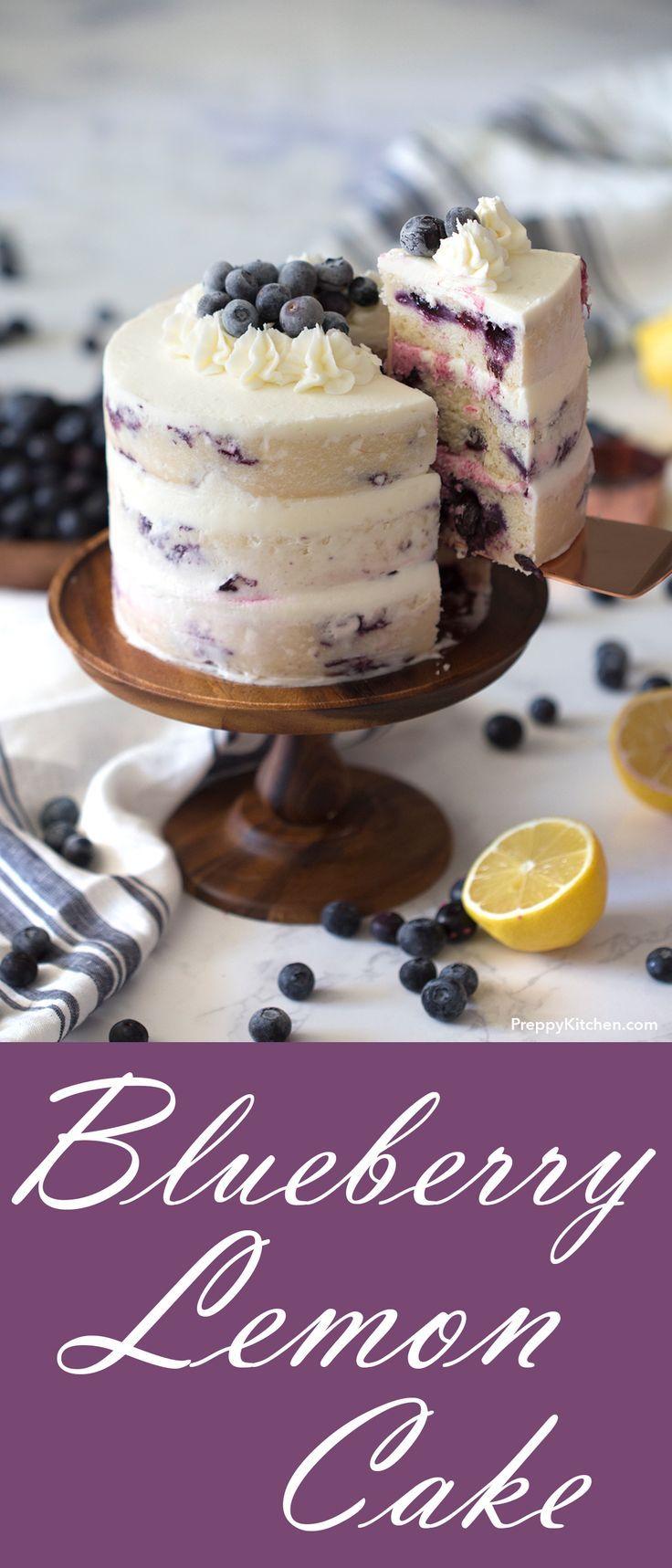 Dieser 3-lagige Heidelbeer-Zitronen-Kuchen ist sehr feucht und luftig. Ich habe frische blaue Blätter …   – hausgemachte Kuchen rezepte