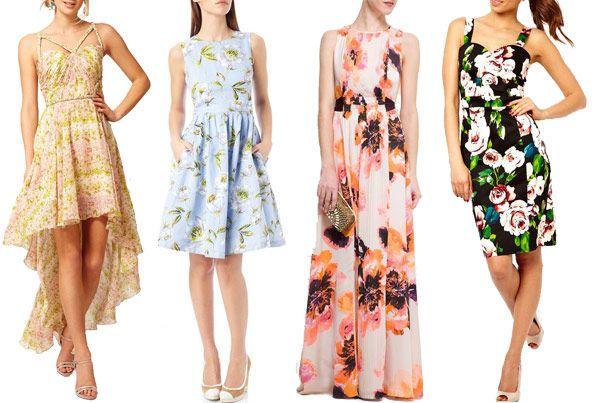 Flower power floral wedding guest dresses dress summer for Floral dresses for wedding guests