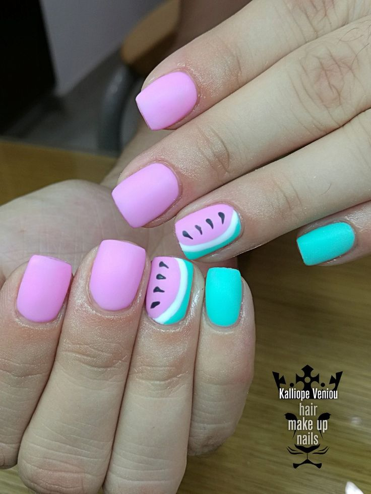 Summer nails  #nails #nailart #summer #love #watermelon #fashion #fashionista #nailaholic #nailsalon #nail2inspire #trusttheexperts #beautymakesyouhappy  www.kalliopeveniou. gr