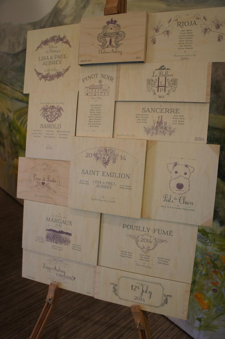 Wine Themed Table Plan From A Recent Wedding Wedding