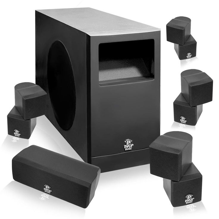 Pyle 5.1 Home Theater Passive Audio System Four Satellite, Center Channel & 10''Subwoofer