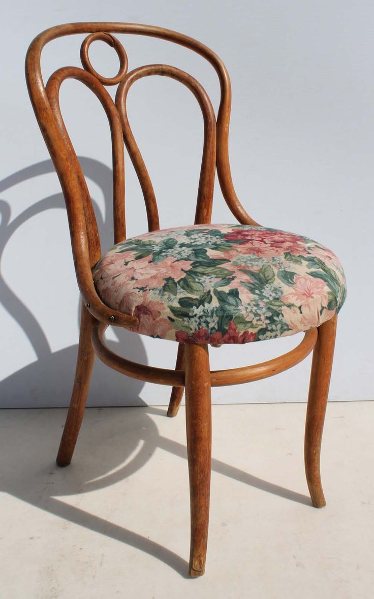 Vintage Bentwood Chair with Floral Seat Upholstery Condition:  Used  Vintage Bentwood Chair with Floral Seat Upholstery  size: 470 L x 450 W x 870 H  R750  Cell 076 706 4700  Tel 021 - 558 7546  www.furnicape.co.za  0406