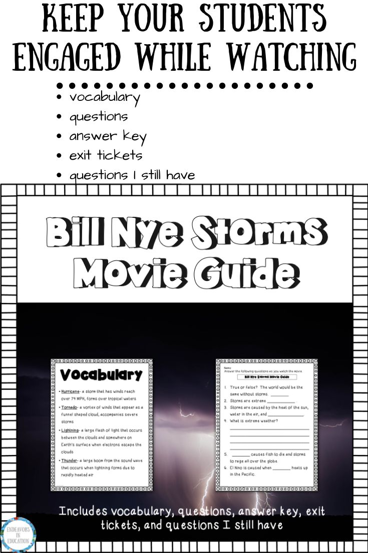 Video Worksheet Bill Nye Storms | Bill nye, This or that ...