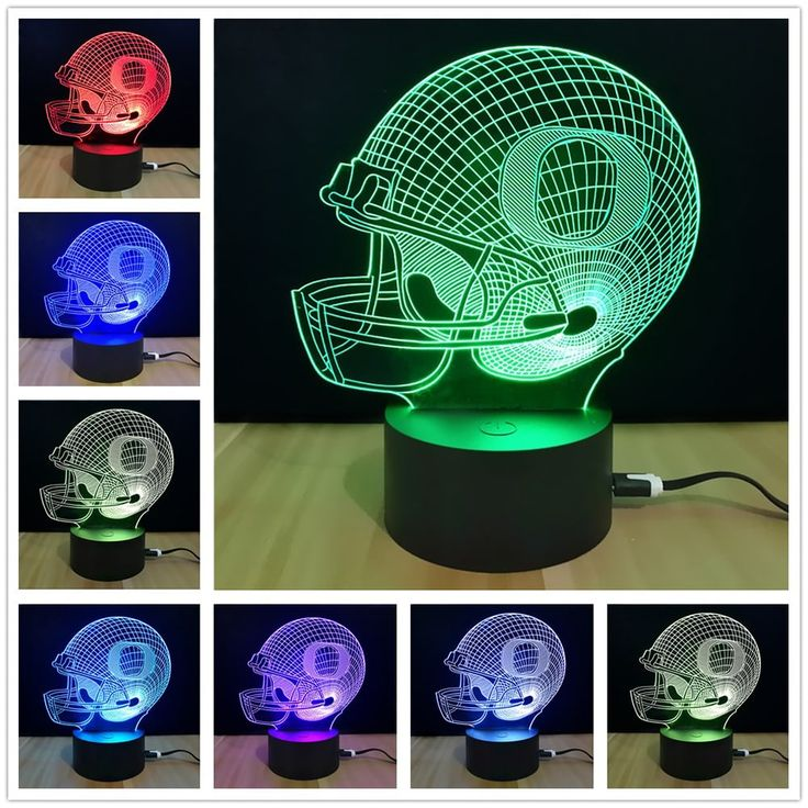 M.Sparkling TD066 Creative Football Cap Sport 3D LED Lamp