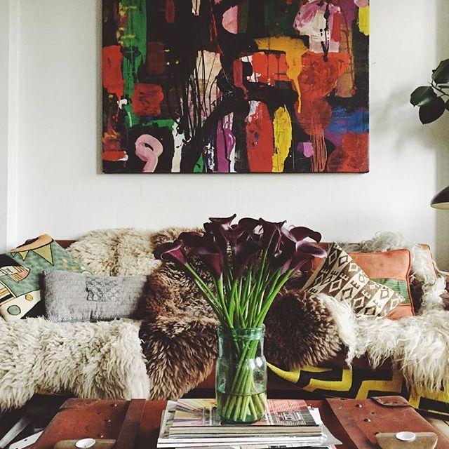 textiles: shaggy throws; live that Hygge sofa lifestyle  #Regram via @emily_katz