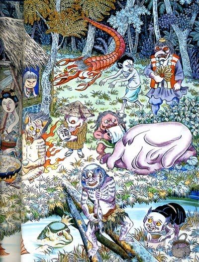 More of Shigeru Mizuki's illustration