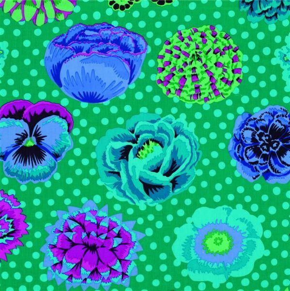 Kaffe Fassett - Big Blooms - Emerald Fabric