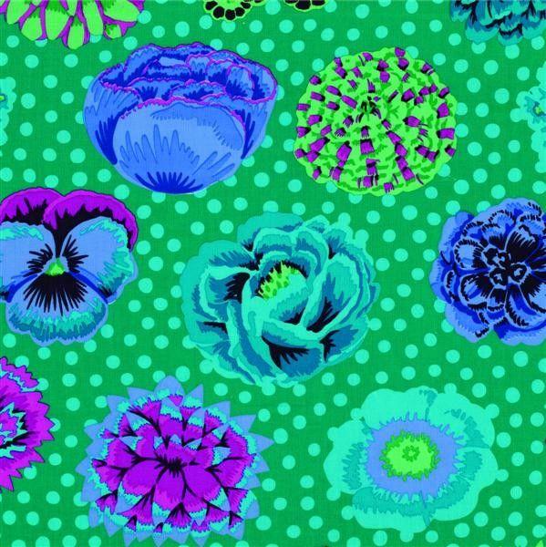 Kaffe Fassett - Big Blooms - Emerald Fabric