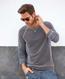 Blend strikket genser fra Sportmann.no