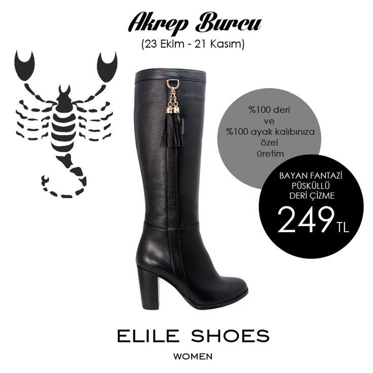 Akrep Burcu  Seksi olan akrep burcuna cazibeli ve gösterişli ayakkabılar yakışır.Özellikle yüksek topuklu ve dizüstü çizmeler tam onlara göredir. #astrology #shoes #zodiac #boot #women #scorpio