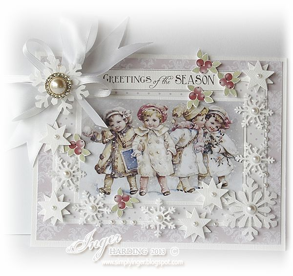 Inger Harding: CHRISTMAS CARDS So sweet, love the whole thing, lots of dimension.  Gorgeous.