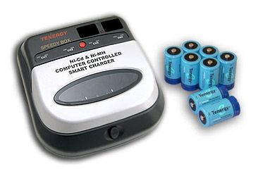 Image of Combo: BC1HU Universal Smart Charger + 8 D 10000mAh NiMH Rechargeable Batteries