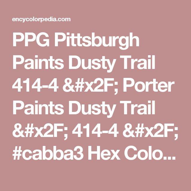PPG Pittsburgh Paints Dusty Trail 414-4 / Porter Paints Dusty Trail / 414-4 / #cabba3 Hex Color Code Schemes, Charts, Palettes, Paints & RGB / CMYK / HSL Conversion