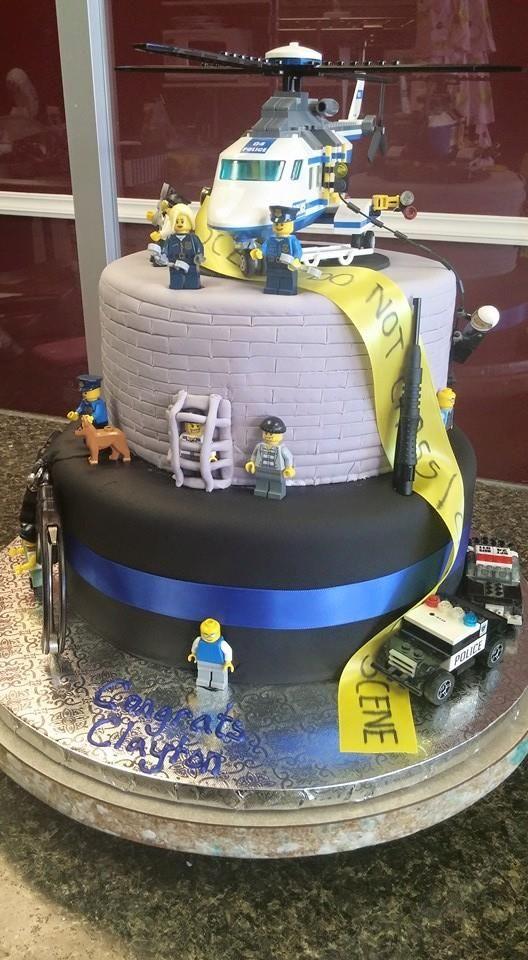 Law Enforcement Birthday Cake Not Fondant