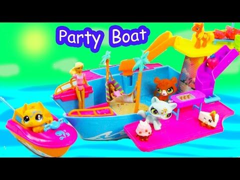 Polly Pocket Tropical Party Yacht Boat Water Pool Play Toy Review Unboxing LPS - YouTube