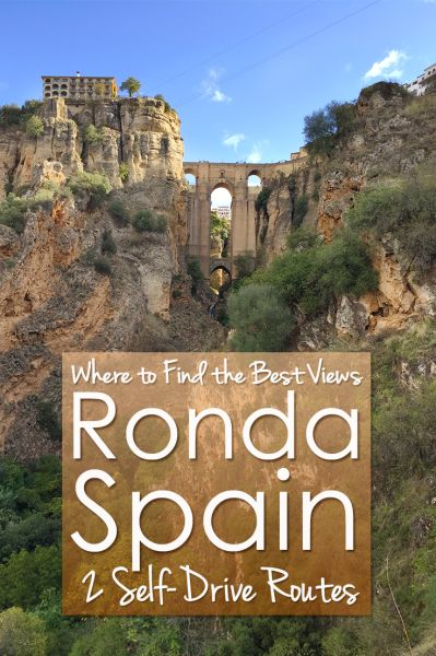 Where do you find the best view of Ronda, Spain? I give you my 2 scenic self-drive routes around Ronda for the best view of Ronda.