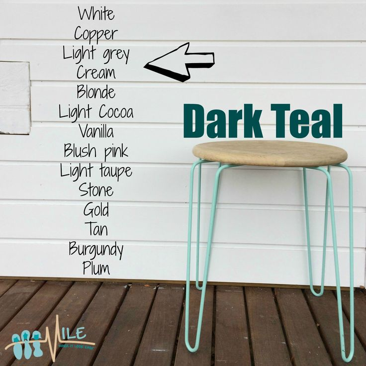 Dark teal goes with...