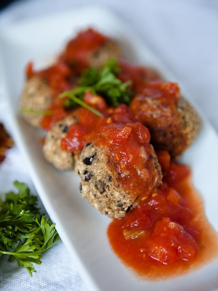 Vegan Eggplant and White Bean Meatballs ... Use crushed rice chex instead of breadcrumbs.  Season if desired.
