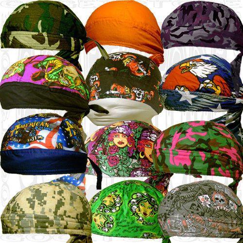 Mother'S Sweatband Doo Rags Men Women Black Camo Head Wrap Skull Cap Paisley Hat