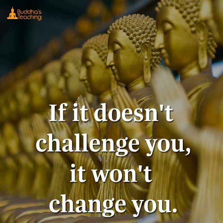 If it doesn't challenge you. Then it won't change you.