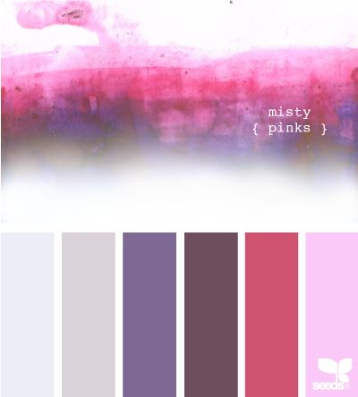 misty pinksColors Combos, Color Palettes, Misty Pink, Pink Colors, Colors Combinations, Colors Palettes, Paint Colors Pinks And Purples, Colors Palatte, Chanel Colors