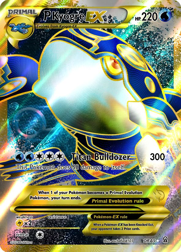 Primal Kyogre EX by aschefield101 on deviantART | Pokemon ...