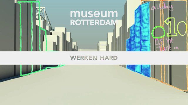 As a final touch we colour corrected the animation and custom sound was made and added by sound studio SonicPicnic. The end result will be kept offline until April, since it is shown at the Museum exhibition in Rotterdam. So go to the exhibition in LP2 in Rotterdam! In February 2013 we started a collaboration with the Museum of Rotterdam to create an animation with the help of thousands of participants, which they would show at their exhibition in Rotterdam.