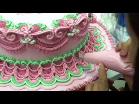 CAKE DECORATING ROYAL ICING PIPING TECHNIQUES / HOW TO PIPE A CAKE BORDER FOR BEGINNERS - YouTube
