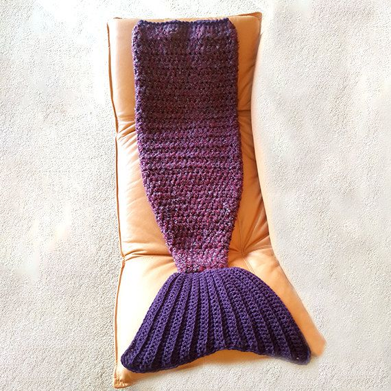Crochet Mermaid Tail Blanket makes a perfect gift by LilCuddles
