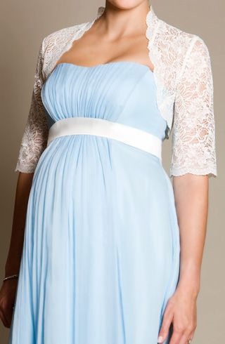 Italia Lace Bolero (Ivory) - Maternity Wedding Dresses, Evening Wear and Party Clothes by Tiffany Rose