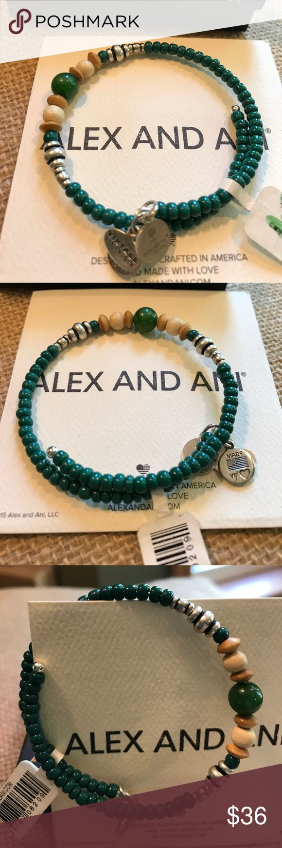 2014 NWT Alex & ANI Forest Canyon Wrap 2014 NWT Alex and ANI Vintage 66 Canyon Wrap in Forest from the Natural Wonders Collection. Stored safely since purchase.  Will come with A&A card and box. Alex & Ani Jewelry Bracelets